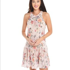 Rebecca Taylor Floral Sleeveless Jersey Dress XS